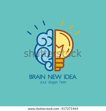 brain idea design badges symbol concept and logo - Idea Design