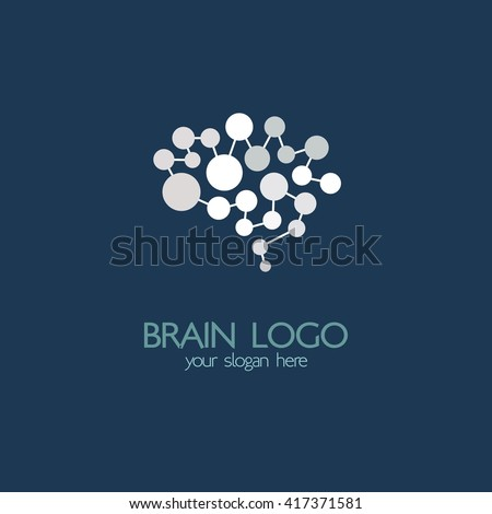 Brain Idea Design, Badges, Symbol, Concept And Logo