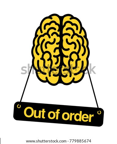 Brain Out Order Problem Trouble Difficulty Stockvector 779885674