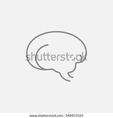 Brain line icon for web, mobile and infographics. Vector dark grey icon isolated on light grey background.