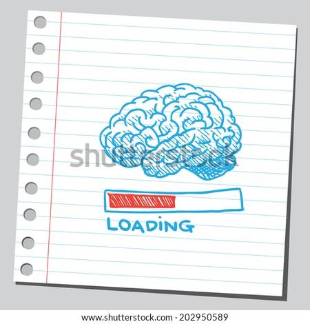Brain loading - stock vector