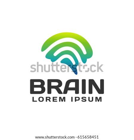 brain logo brain icon brainstorm iconlogo stock vector 532589716