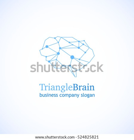 Brain Logo Vector Template.