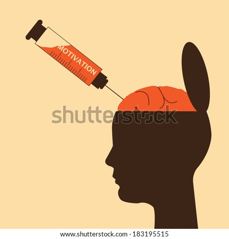 Brain medication. Pills and syringes and a human brain - stock vector