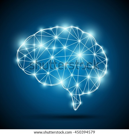 Brain of an artificial intelligence - stock vector