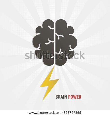 Brain power concept illustration art - stock vector