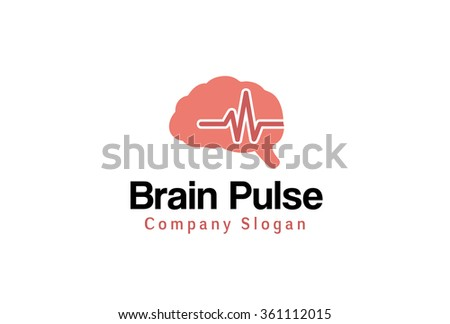 Brain Pulse Design Illustration - stock vector