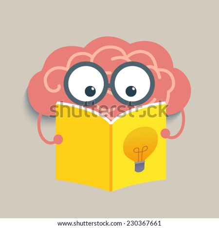 Brain Reading - stock vector