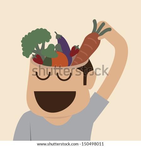 Brain's food - stock vector