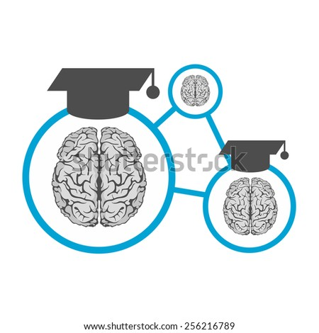 brain science education knowledge icon - stock vector