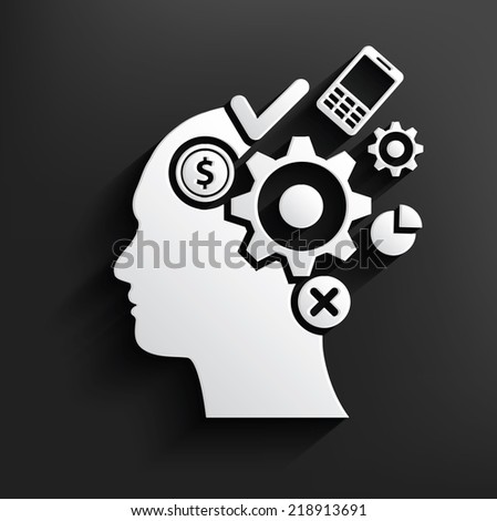 Brain storm symbol on background,clean vector - stock vector