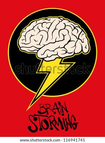 Brain storming - stock vector