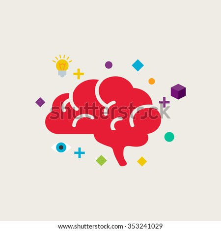 Brain training vector illustration - stock vector