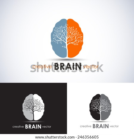 Brain tree business concept vector illustration