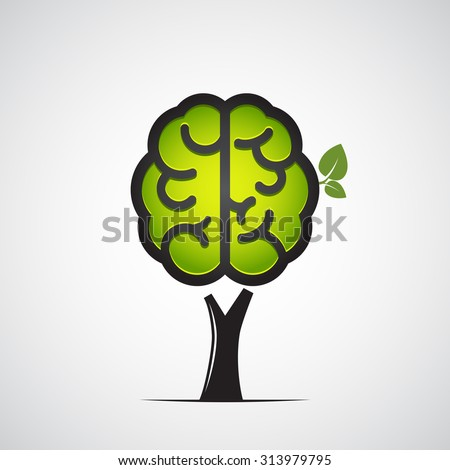 Brain tree. Vector illustration - stock vector
