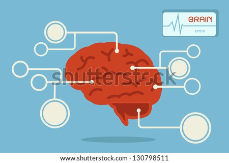 brain, vector - stock vector