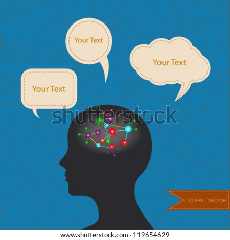 Brain vector background