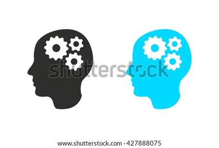 Brain    vector icon. Illustration isolated for graphic and web design.