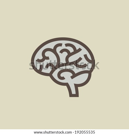 Brain vector illustration - stock vector