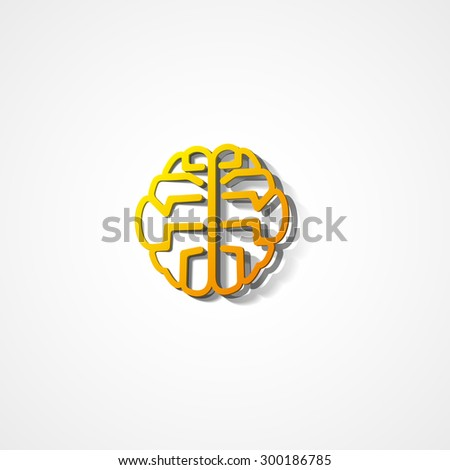 Brain web icon on white background
