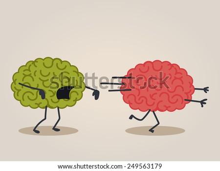 Brain zombie - stock vector