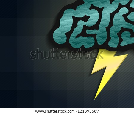 brainstorm background - stock vector