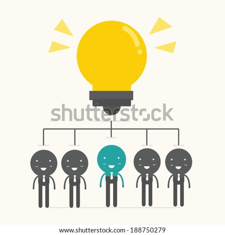 Brainstorm. Teamwork concept,vector,illustration. - stock vector