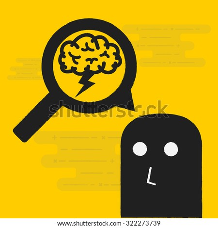 brainstorming - stock vector