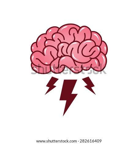 brainstorming creative idea abstract icon stock vector
