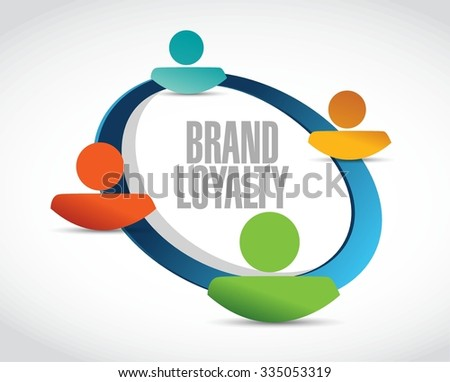 Brand loyalty people network sign concept illustration design graphic