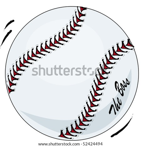 Brand new baseball illustration vector with movement and 'the boss' - stock vector