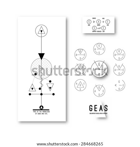 Branding - creating a logo - the legend of the brand - stock vector