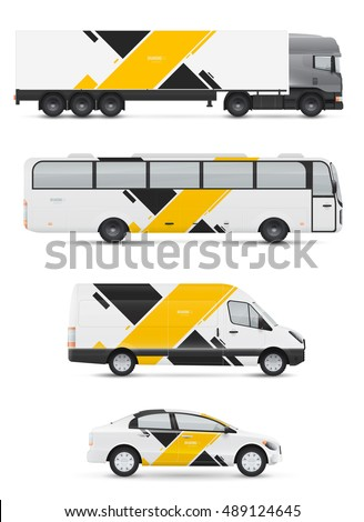 Car Graphics Stock Images RoyaltyFree Images Vectors - Modern vehicle decals for business