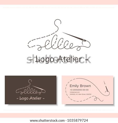 Branding fashion designer atelier wedding boutique stock vector branding for the fashion designer atelier wedding boutique womens clothing store studio reheart Gallery