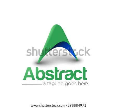 Branding Identity Corporate vector logo A design  - stock vector