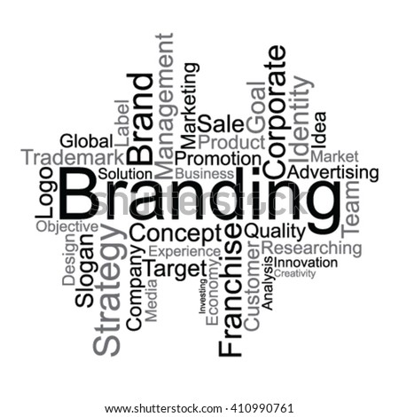 Branding tag cloud - stock vector