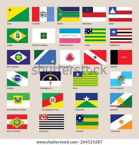 Brazil National Flag Colors