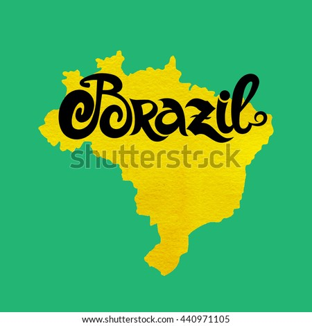 Brazil. Abstract vector watercolor background - stock vector