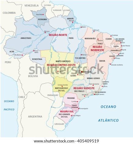 Colombia Administrative Map Stock Vector 155491007 Shutterstock