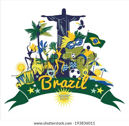 Brazil background - stock vector