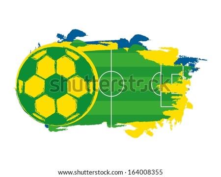 brazil design over white background vector illustration - stock vector