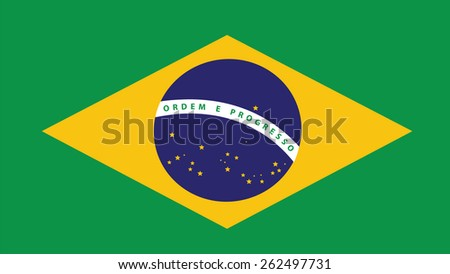 brazil Flag for Independence Day and infographic Vector illustration.
