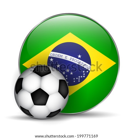 Brazil flag icon - stock vector