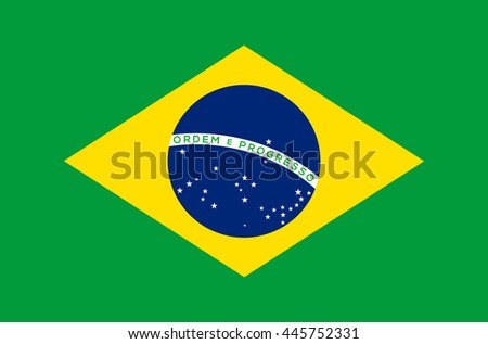 Brazil flag vector illustration
