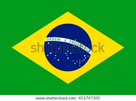 Brazil flag. Vector illustration
