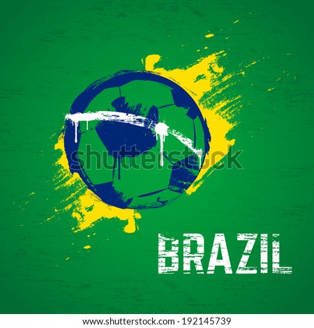 Brazil football background. Vector. - stock vector