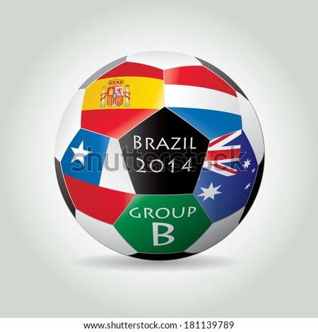 Brazil 2014 Group B vector illustration. - stock vector