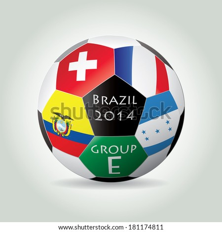 Brazil 2014 Group E vector illustration. - stock vector