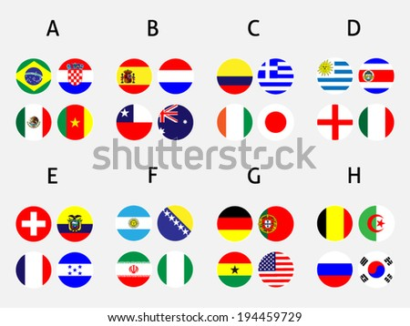 Brazil Groups Circles with Coat of Arms - stock vector