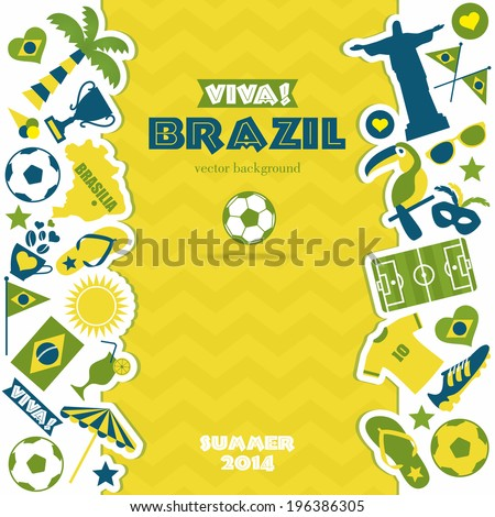 Brazil icons set. Vector elements for your design. - stock vector